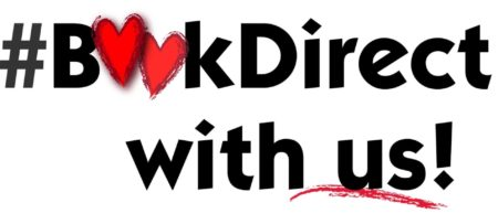 BookDirect with Us! Michigan Lake to Lake with hearts logo