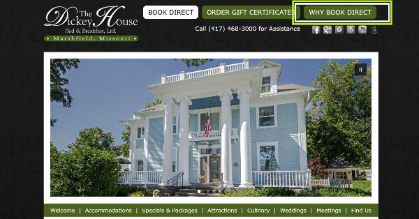 Screenshot of Dicky House Home page