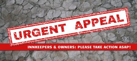 Red Stamp Urgent Appeal on Broken Ground